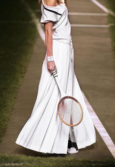 Suzanne Lenglen  Jean-Paul Gaultier turned the runway into a lawn tennis court    for his spring-summer 2010 collection for the luxury brand Hermes.