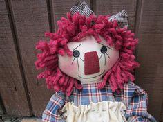 Annie primitive ragdoll by granniesraggedybags on Etsy, $22.00