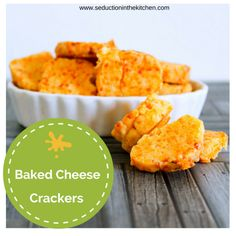 Baked Cheese Cracker | Seduction in the Kitchen