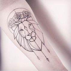 sur le thème Geometric Lion Tattoo sur Pinterest | Tatouage lion ...