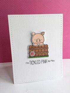MFT Hog Heaven; pig; piggie; tickled pink; clean and simple
