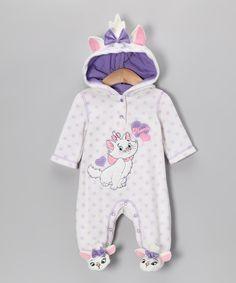 Cream Aristocats Hooded Footie - Infant
