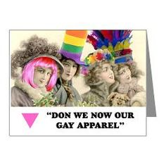 Gay apparel card