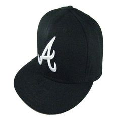 4ca9e660051 Wholesale Atlanta Braves Fitted Caps A letter Full closure cap embroidered  baseball team size flat Brim Braves hats