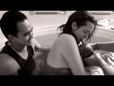 ▶ Natural Water Birth - YouTube - This is exactly how I envision our Birth Video minus the bare-bustedness