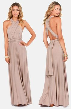 Taupe Infinity Maxi Dress