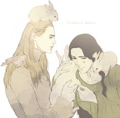 myrkvidrs: by linyuno ~ Legolas and Arwen <= wow Arwen looks like a man .-.