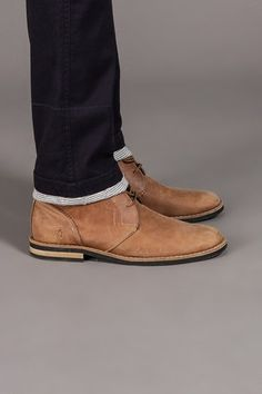 Light tan desert boots