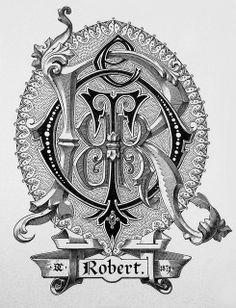 "Monogram ""Robert"" by Charles Demengeot - 1879"
