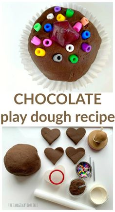 Make the BEST EVER chocolate play dough with this super quick, no-cook recipe that smells A-MAZING! Perfect for sensory play, alternative Easter gifts for kids and DIY take home party favours, as well Chocolate Crafts, Chocolate Day, Chocolate Factory, Easter Gifts For Kids, Easter Gift Baskets, Diy Crafts For Kids, Craft Kids, Summer Crafts, Summer Fun