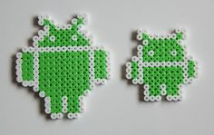Bugdroid the Android Robot Hama Bead Fridge by CrackBrainCrafts