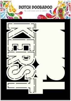 470.713.638 Dutch Doobadoo Card Art Text 'Kerst'