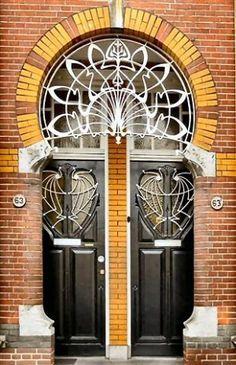 Art Nouveau double doors.