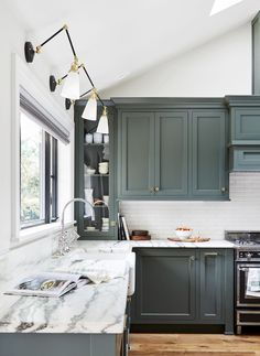 Uplifting Kitchen Remodeling Choosing Your New Kitchen Cabinets Ideas. Delightful Kitchen Remodeling Choosing Your New Kitchen Cabinets Ideas. Home Decor Kitchen, New Kitchen, Kitchen Ideas, Decorating Kitchen, Green Kitchen Island, Kitchen Paint, Country Kitchen, Light Green Kitchen, Olive Kitchen