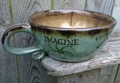 tea... chai latte... coffee... cocoa... it doesn't matter in this unique, handmade mug!  Now - where to get one?  :>)