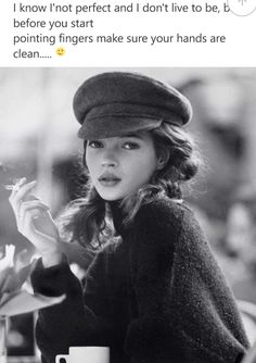 Young Kate Moss Smoking At A Cafe Coffee And Cigarettes Black White Fashion Photography Uk Model Sweet And Innocent
