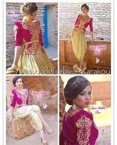 2017 by Anissa Belkebir Traditional Looks, Traditional Dresses, Afghan Dresses, Moroccan Dress, Arab Women, Couture, Embroidery Dress, Indian Fashion, Beautiful Dresses