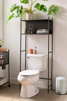 Wesley-Regal über der Toilette - ONE Dekor Style Over The Toilet Cabinet, Over Toilet Storage, Toilet Shelves, Bathroom Shelves, Bathroom Cabinets, Downstairs Bathroom, Bathroom Wall, Over The Toilet Organizer, Over The Toilet Rack