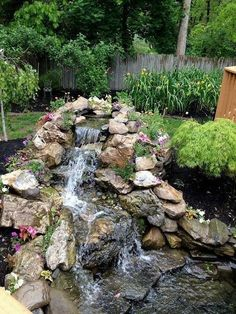 It's not difficult to create a waterfall pond feature rather than the conventional pond. With this small waterfall pond landscaping ideas you will inspired to make your own small waterfall on your…MoreMore #LandscapingIdeas