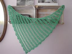 FERNANDA SHAWL crochet pattern / chart  A lacy, quick and pretty project, from scarf to full size shawl, you can make it any size desired, with any yarn weight and fiber.