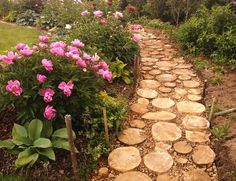 Yard landscaping ideas will look more interesting when you mix materials for creating beautiful garden paths, walkways, patios and flower beds. Attractive combinations of landscaping rocks, sand, beac