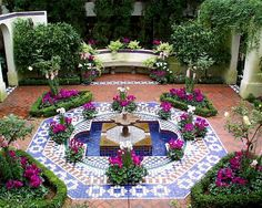 Features Moorish garden: geometry of the layout, placement of the reservoir, construction of the patio, plant selection. Guidelines for creating a Moorish garden Outdoor Rooms, Outdoor Gardens, Outdoor Decor, Unique Gardens, Beautiful Gardens, Dream Garden, Garden Art, Garden Mosaics, Home And Garden