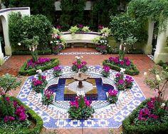 home garden and mosaic design