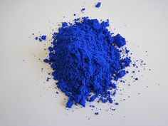 The newly-discovered YInMn blue is now commercially available from the Shepherd Color Company. Courtesy of Oregon State University.