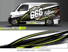 Van Wrap Design Simple Lines Abstract Stock Vector (Royalty Free) 1309627126 Painted Vans, Van Wrap, Custom Hot Wheels, Abstract Lines, Stickers, Simple Lines, Car Wash, Pickup Trucks, Sticker Design