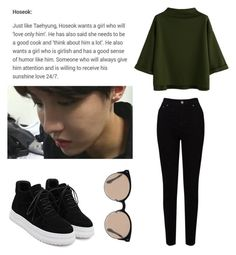 """BTS JHOPE IDEAL TYPE"" by asianfashion-j ❤ liked on Polyvore featuring WithChic, EAST and Balenciaga"