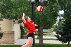 Volleyball Training Equipment - The SpikeMate is a volleyball trainer which will help you practice and learn how to spike a volleyball.