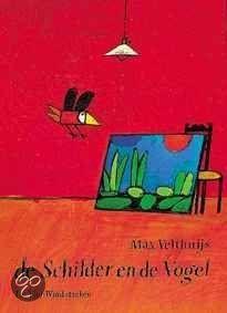 De Schilder En De Vogel door Max Velthuijs  Een arme schilder is dol op zijn schilderijen, maar het mooist vindt hij die van een vogel. Om aan geld te komen moet hij het schilderij met pijn in zijn hart verkopen aan een rijke man. De vogel heeft het helemaal niet naar zijn zin tussen al die dure spullen en hij gaat op zoek naar waar hij thuishoort. Maar hij is nergens welkom. Zou hij de schilder terugvinden?