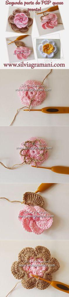 Цветок крючком...♥ Deniz ♥
