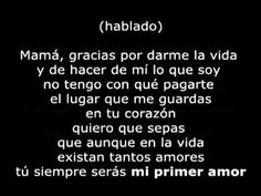 Pesado - Mi Primer Amor Con Letra; Babe has to dance this on our wedding day with his momma