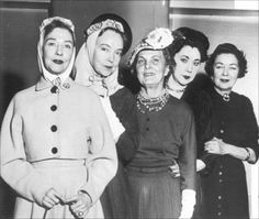 Years after their stars had faded, these silent screen beauties reunited to attend an award benefit for the late D. W. Griffith in the 1950s. (L to R) Dorothy Gish, Lillian Gish, Leatrice Joy, Nita Naldi and Norma Talmadge.