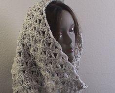 Crochet Infinity Scarf - Aquatic Blossom ~ free pattern ᛡ