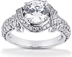 The Venetian Diamond Engagement Ring in 18K White Gold - 1.25 Carats TW - Design Your Dream Ring - DreamStone