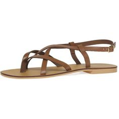 Dorothy Perkins Tan leather 'spring' sandals