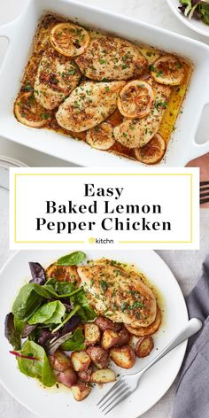 This Lemon Pepper Chicken Is a Dinner Winner Easy Baked Lemon Pepper Chicken Recipes With Chicken And Peppers, Chicken Stuffed Peppers, Baked Chicken Recipes, Baked Lemon Pepper Chicken, Lemon Chicken, Garlic Shrimp, Cooking Recipes, Lunch Recipes, Dinner Recipes