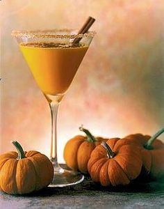 Smashing Pumpkin Martini - the perfect drink for a Halloween party.