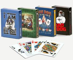 Big Dogs Playing Card Set ~ I have the green one, of course! <3 <3 Greyhound/Poodle 5eva! ;p But really, $6 is a terrific sale price for 4 decks.