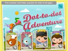 Dot-to-Dot Adventure for iPad - a set of 35 dot-to-dot puzzles (alphabet and numbers). Original Appysmarts score: 89/100
