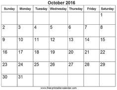 calendar october 2016 australia