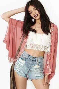 Dusk Blossom Cape | Shop Clothes at Nasty Gal