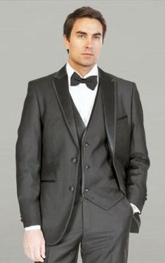Black Framed Notch Lapel with Vest Microfiber Tuxedos.Made of exceptional polyester/ rayon man made fiber that looks and feels like Super 100s Wool.