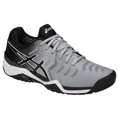 huge selection of 2fba5 f02e3 Asics Gel Resolution 7 Men s Tennis Shoe, in a new grey and black colorway,