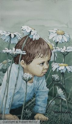 Daisy Monster Daisy, My Arts, Watercolor, Gallery, Anime, Fictional Characters, Watercolour, Watercolor Painting, Margarita Flower