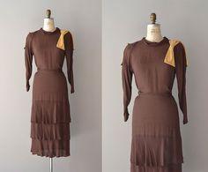 1930s dress / silk 30s dress / 42nd Parallel dress