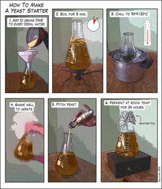 HOW TO: Make a yeast starter, illustrated - Imgur