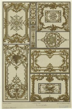 French Rococo design, middle 18th century.
